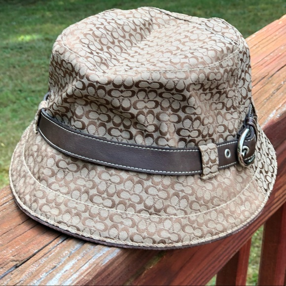 8e390c324 Coach Accessories | Signature Mini C Bucket Hat | Poshmark